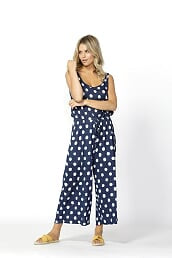 Betty Basics - Maldives Jumpsuit - Ink/White SALE