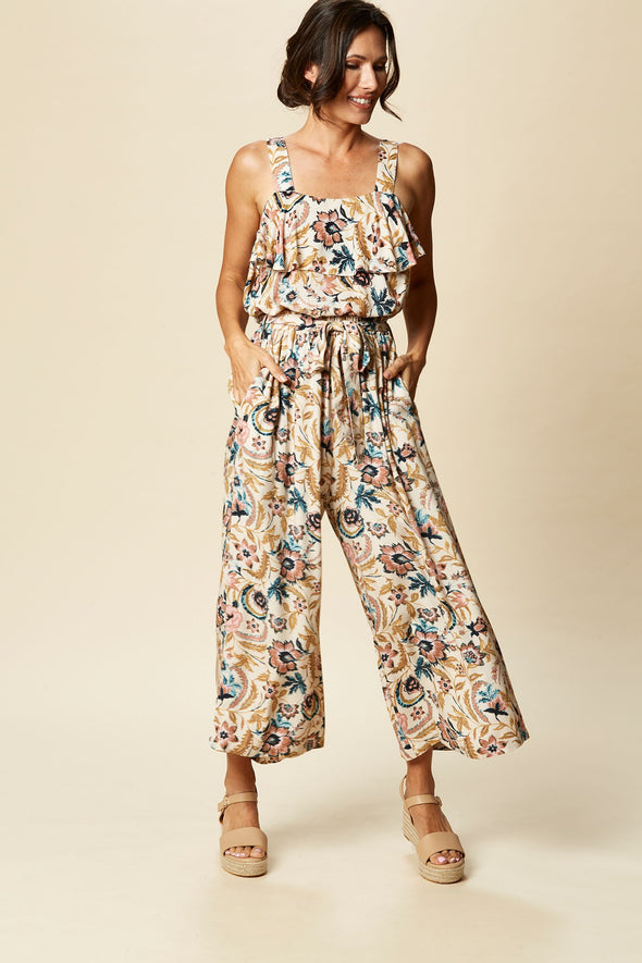 Eb & Ive - Zena Pant - Buff Botanical