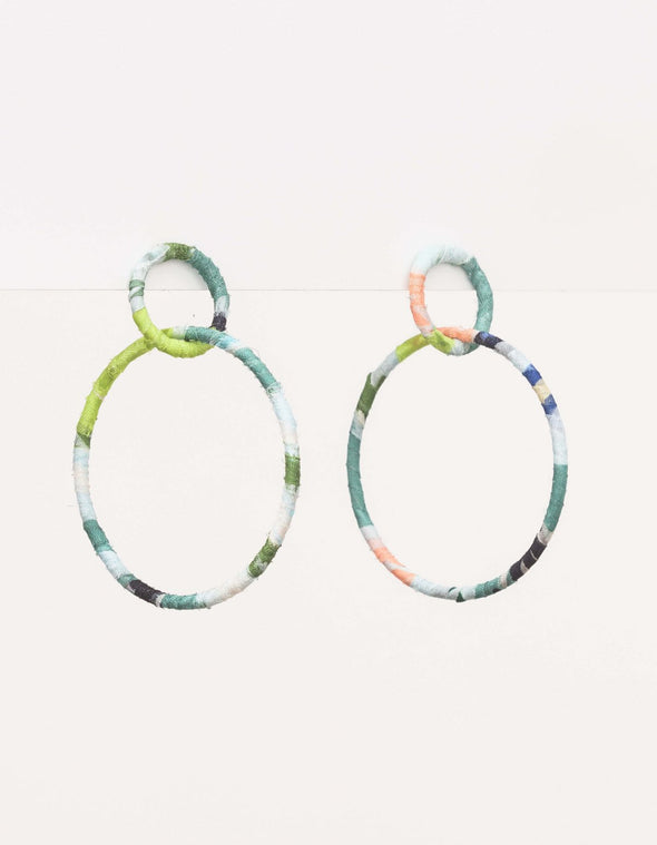 Stella & Gemma - Earrings - Dbl Hoop Floral
