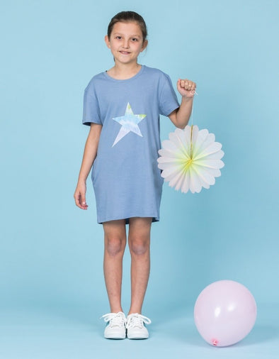 Stella & Gemma Mini - Denim dress with star