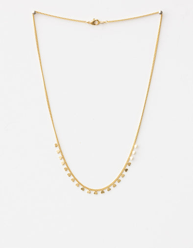Stella & Gemma - Necklace - string of hearts gold
