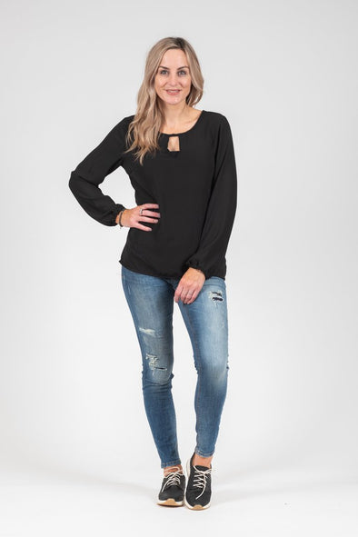 White Chalk - Katya Top Black