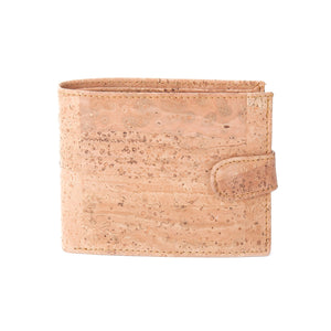 Natural Cork Wallet w/Clasp