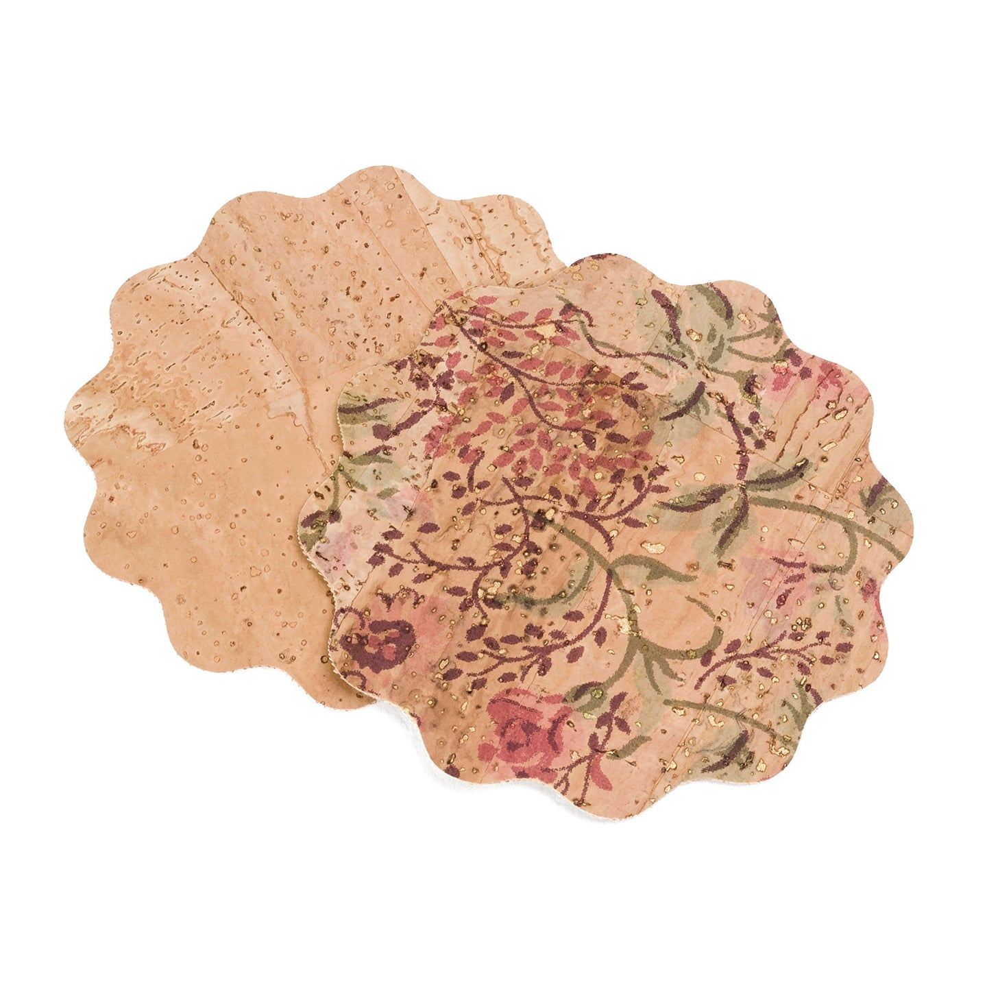 Floral Cork Set of Coasters