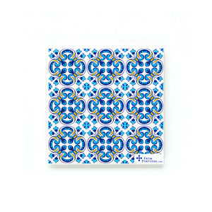 Blue Tile Square Coaster