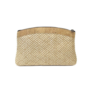 Raw Straw Clutch