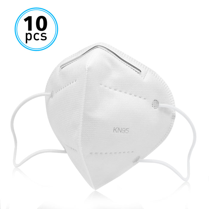 10Pack of KN95 Face Masks, ZHONGCHEN ZC9595 Disposable Respirators Multi-Ply Cotton Filter or Dust, Germ Protection