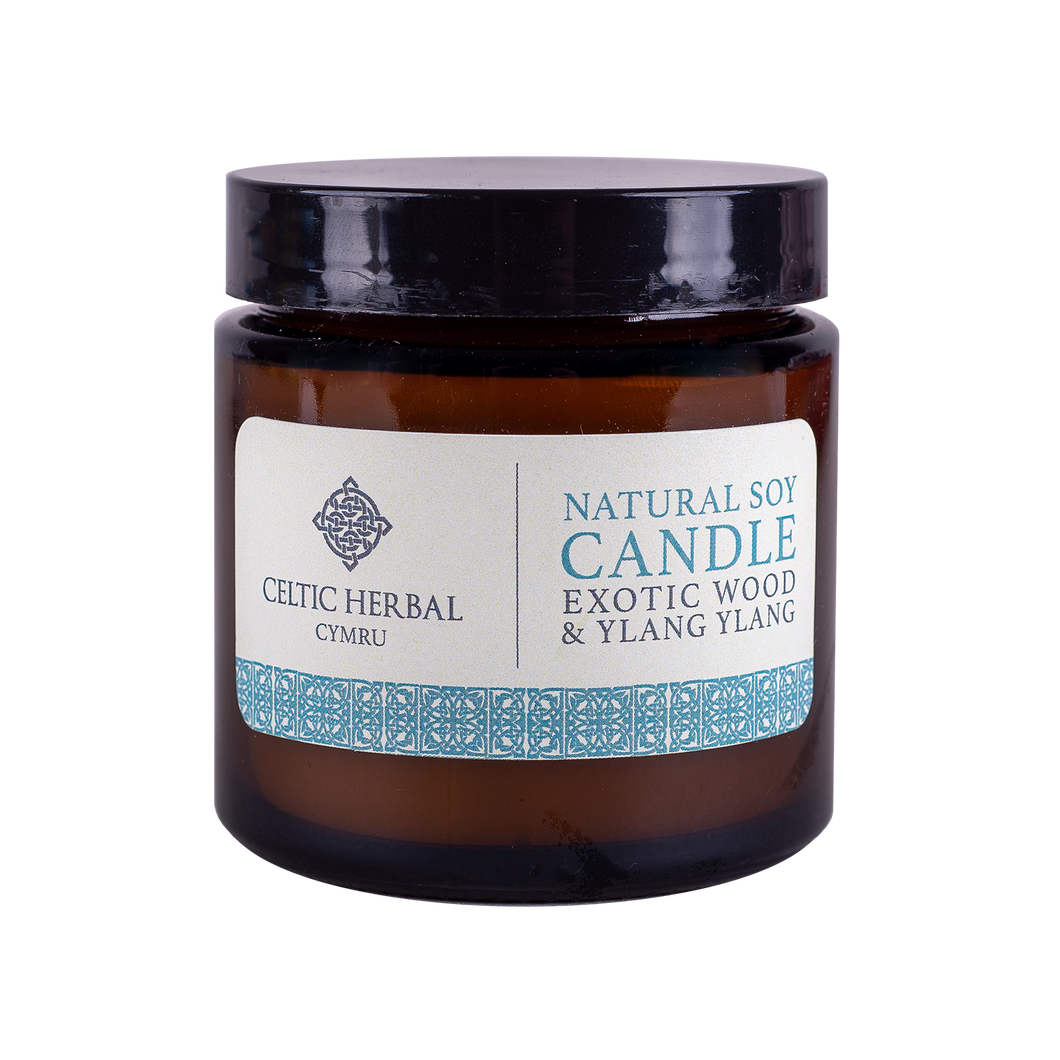 Natural Exotic Wood & Ylang Candle - Natural Soy Candle