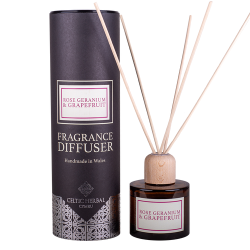 Celtic Herbal - Rose Geranium & Grapefruit Reed Diffuser 100ml