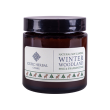 Load image into Gallery viewer, Winter Woodland Candle with Pine & Frankincense - Natural Soy Candle