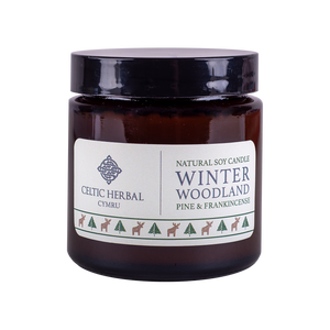 Winter Woodland Candle with Pine & Frankincense - Natural Soy Candle