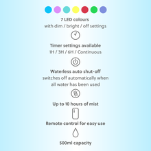 Load image into Gallery viewer, WellbeingMe - Electric Essential Oil Diffuser information