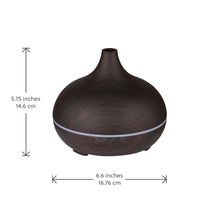 Load image into Gallery viewer, Electric Essential Oil Diffuser for aromatherapy at home - Dark Wood effect - UK Plug
