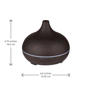 WellbeingMe - Electric Essential Oil Diffuser in Dark wood effect