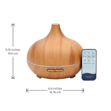 Load image into Gallery viewer, WellbeingMe - Electric Essential Oil Diffuser in light wood effect