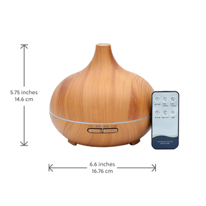 WellbeingMe - Electric Essential Oil Diffuser in light wood effect