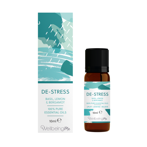 WellbeingMe - De-Stress - Basil, Lemon & Bergamot Essential Oil Blend 10ml