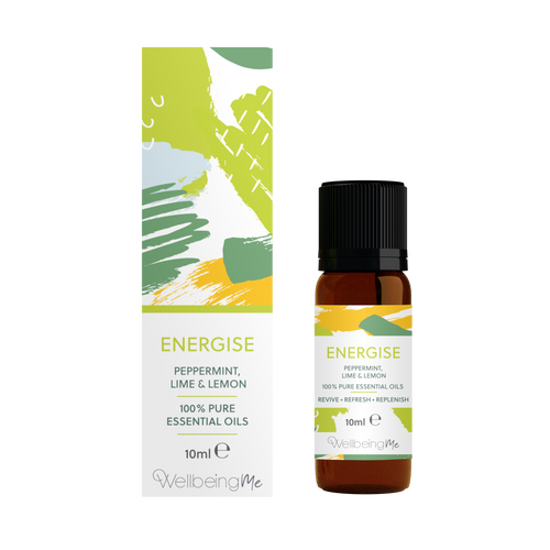 WellbeingMe - Energise - Peppermint, Lime & Lemon Essential Oil 10ml