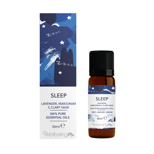 WellbeingMe Sleep - Lavender, Marjoram & Clary Sage Essential Oil 10ml