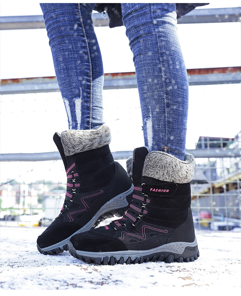 Asimf-Premium Leather Winter High Top Boots