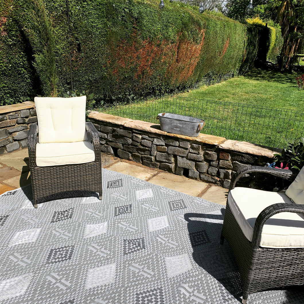 Grey Diamond Garden Mat
