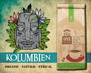 Bio Fair-Trade Arabica Kaffee | KOLUMBIEN