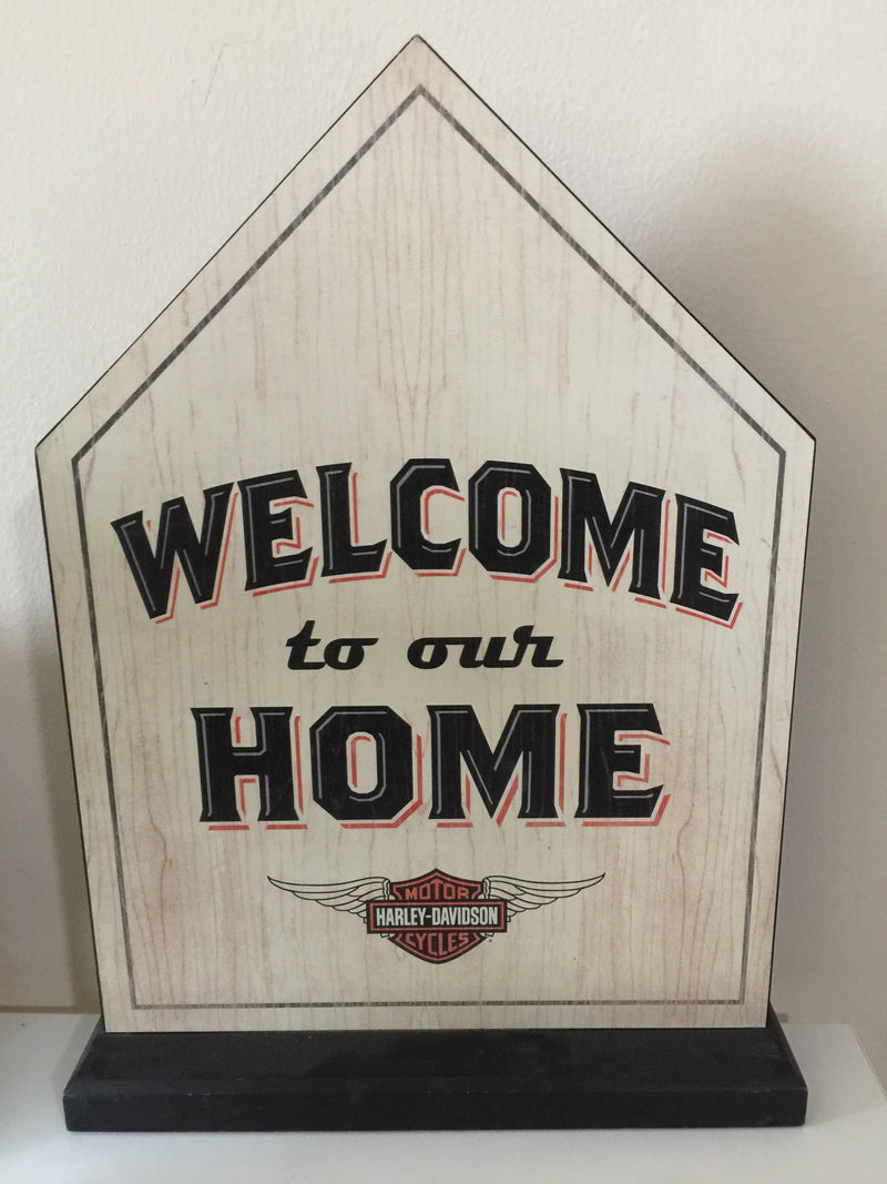 "Hallmark Harley-Davidson ""Welcome to our home"" sign"