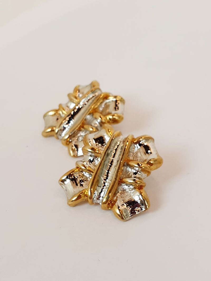 Gold & Silver Chunky Earrings