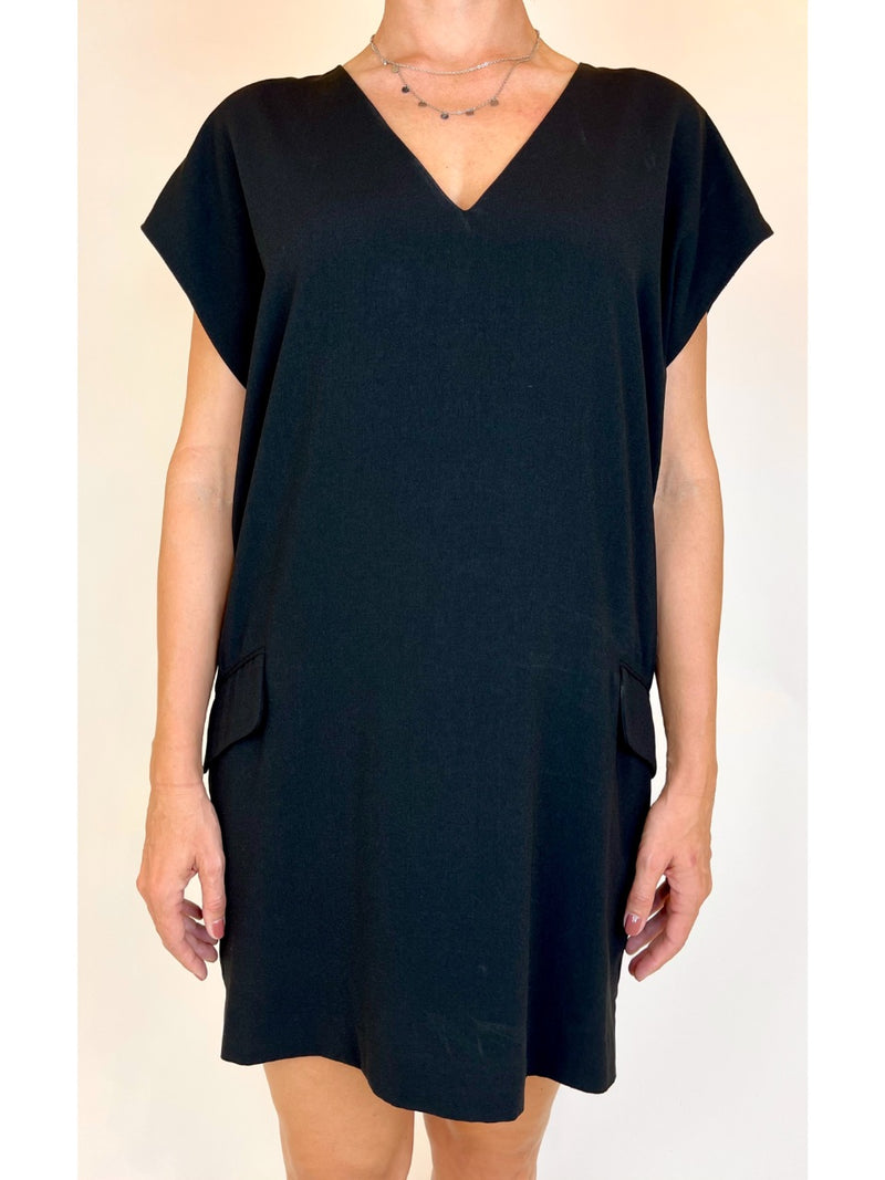 Banana Republic Womens Black V-Line dress (Medium)
