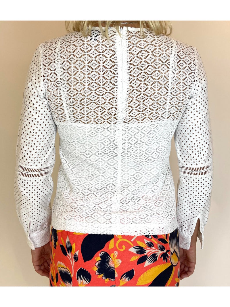 Banana Republic Broderie Anglaise Blouse (Small)