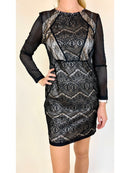 Blue Vanilla Womens Black Lacy Dress (UK10)
