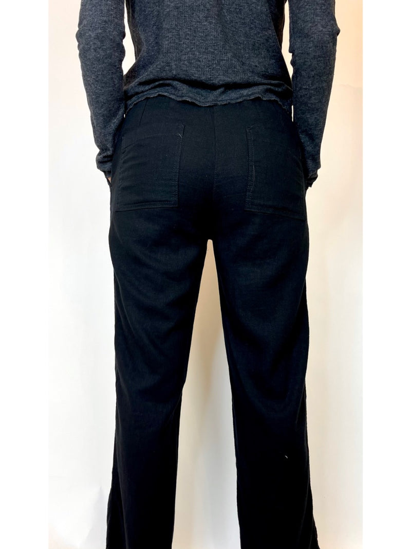 Next Black Drawstring Trousers (Medium)