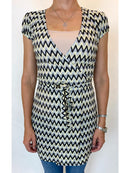 Discreet Crochet Wrap Dress (Small)