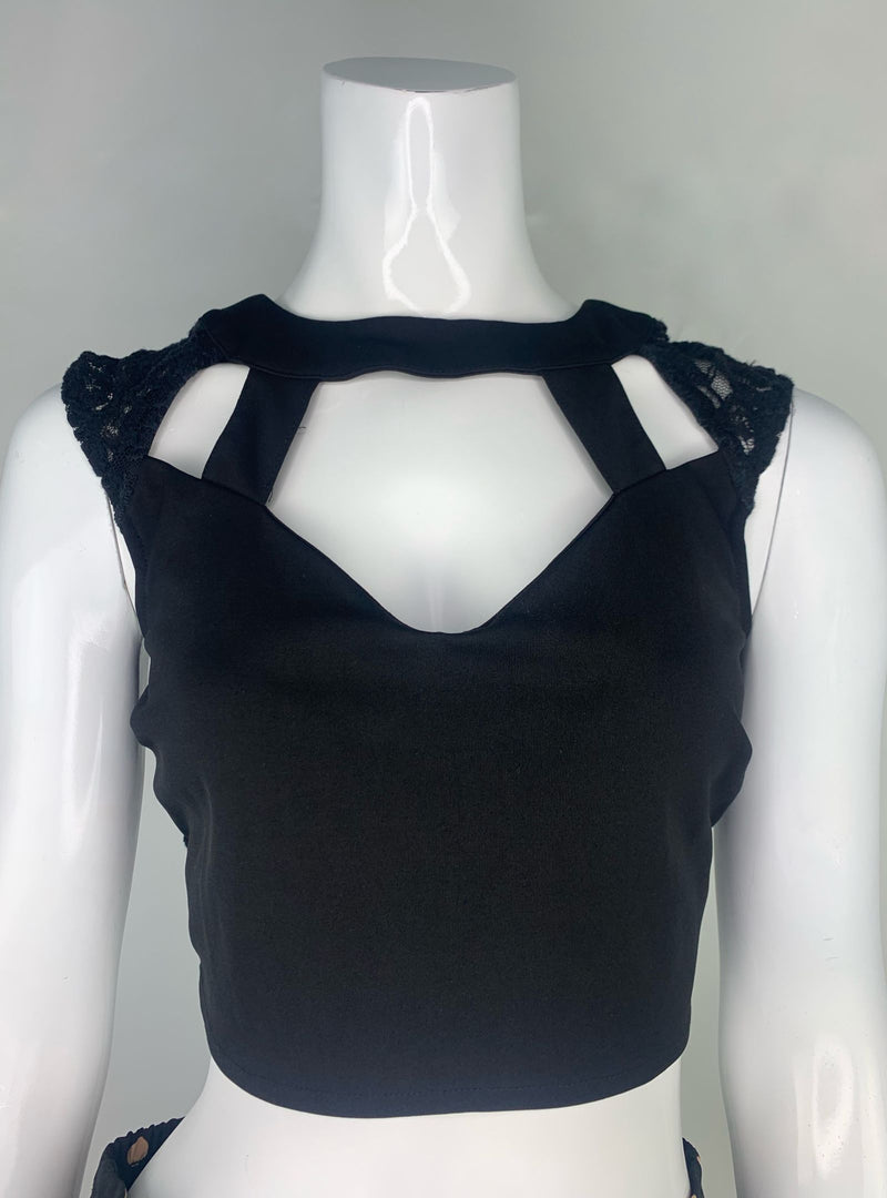 Black Crop Top (Small)