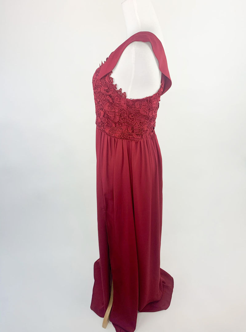 Shein Burgundy Long Dress (S)