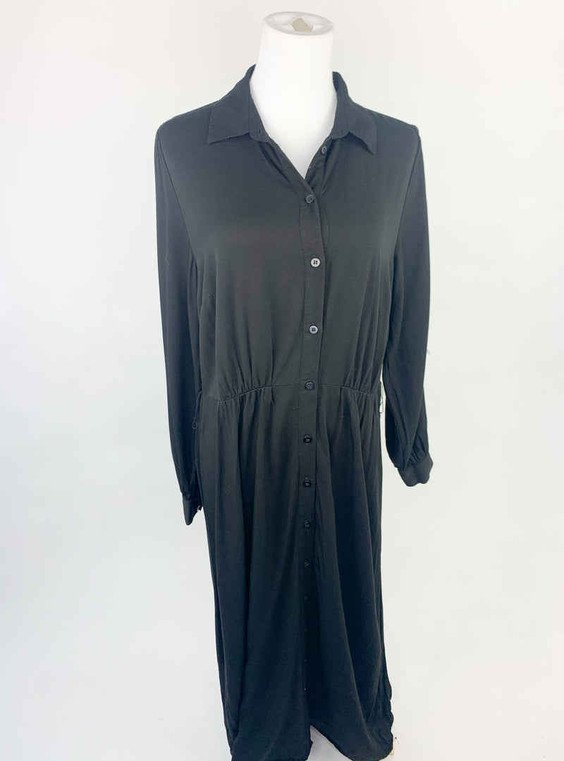 H&M Black Long Shirt Dress (M)