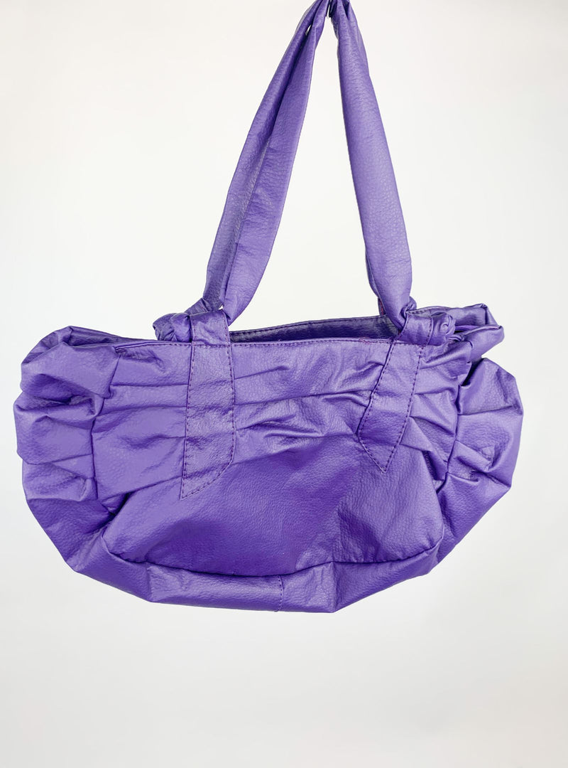 Purple Top Handle Handbag