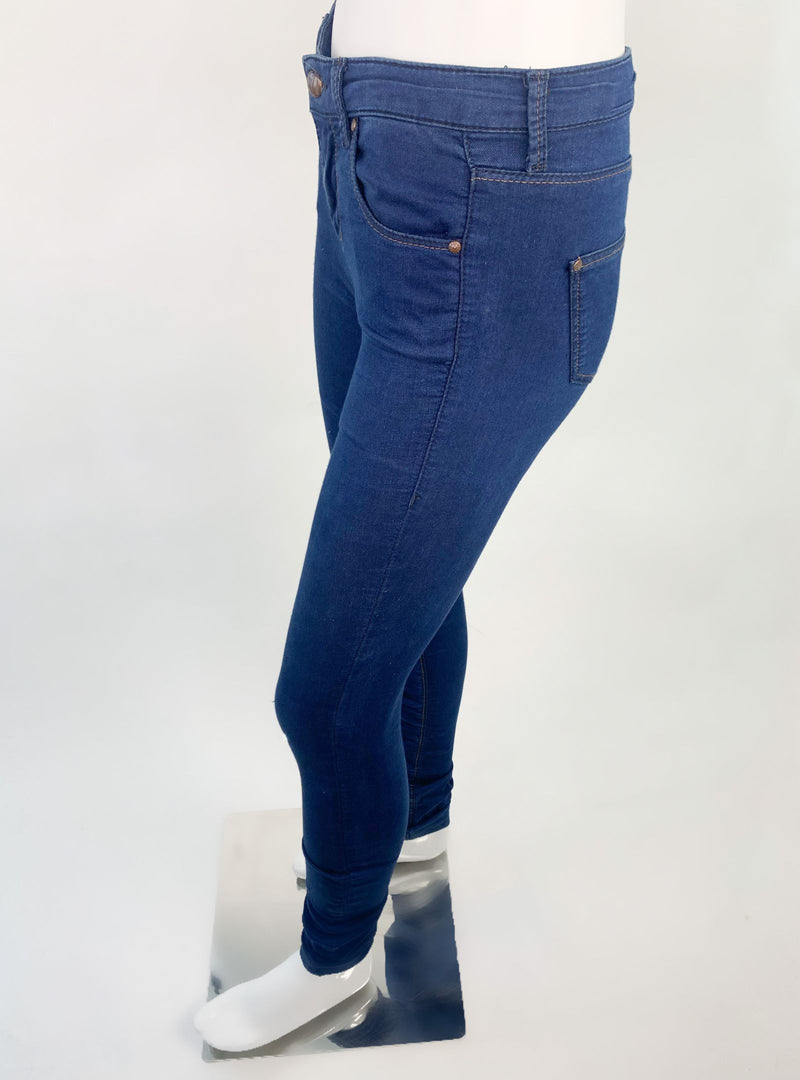 Topshop Leigh Low Waist Skinny Blue Jeans (Small)