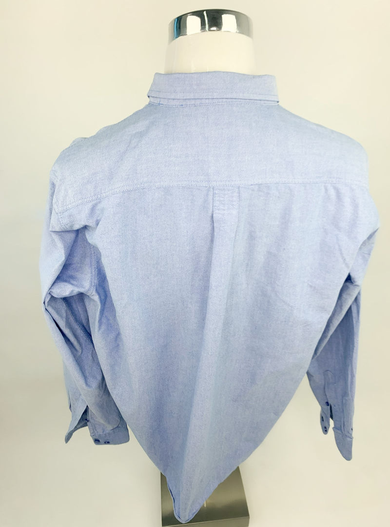 Cotton Traders Men's Formal Blue Shirt (2XL)