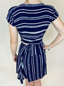 Dunesi Blue Stripe Beach Skirt and Top (Small)