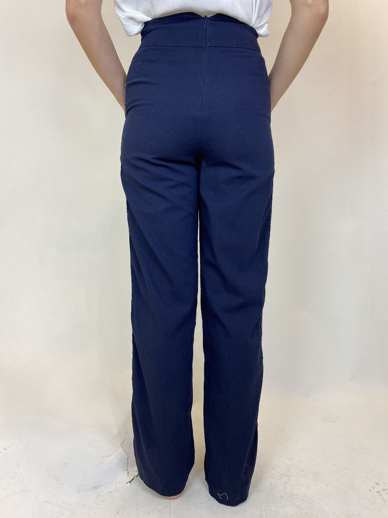 Karen Millen Blue Toreador Style Trousers (Small)