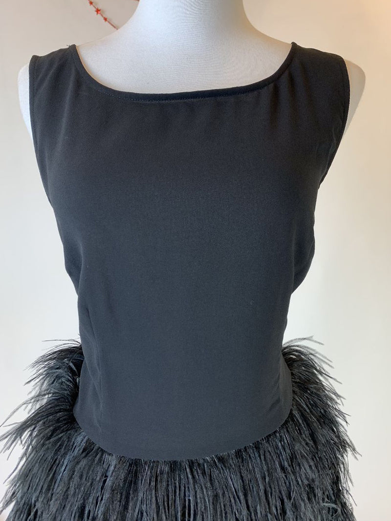 Second female black with fur bottom dress (large)