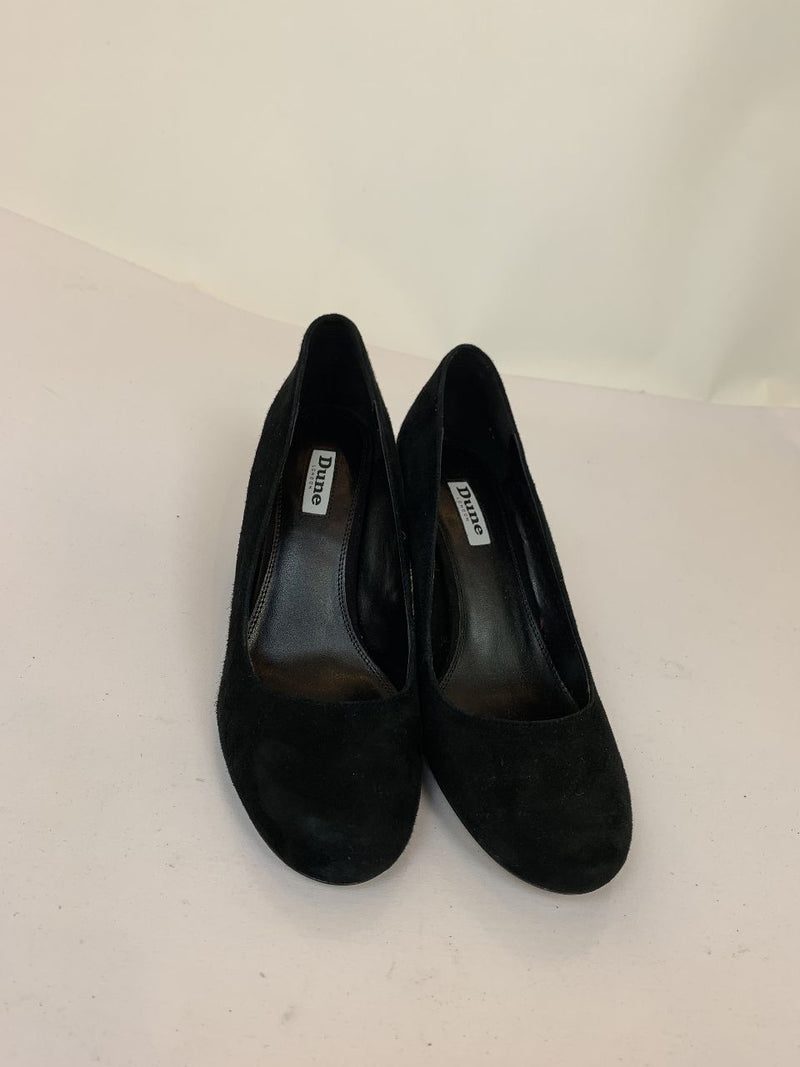 Dune London black velvet heels (EU40)