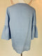 Ellen Tracy Sky Blue Linen Top (Small)