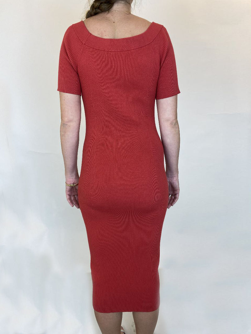 All Saints Red Jersey Dress (Large)