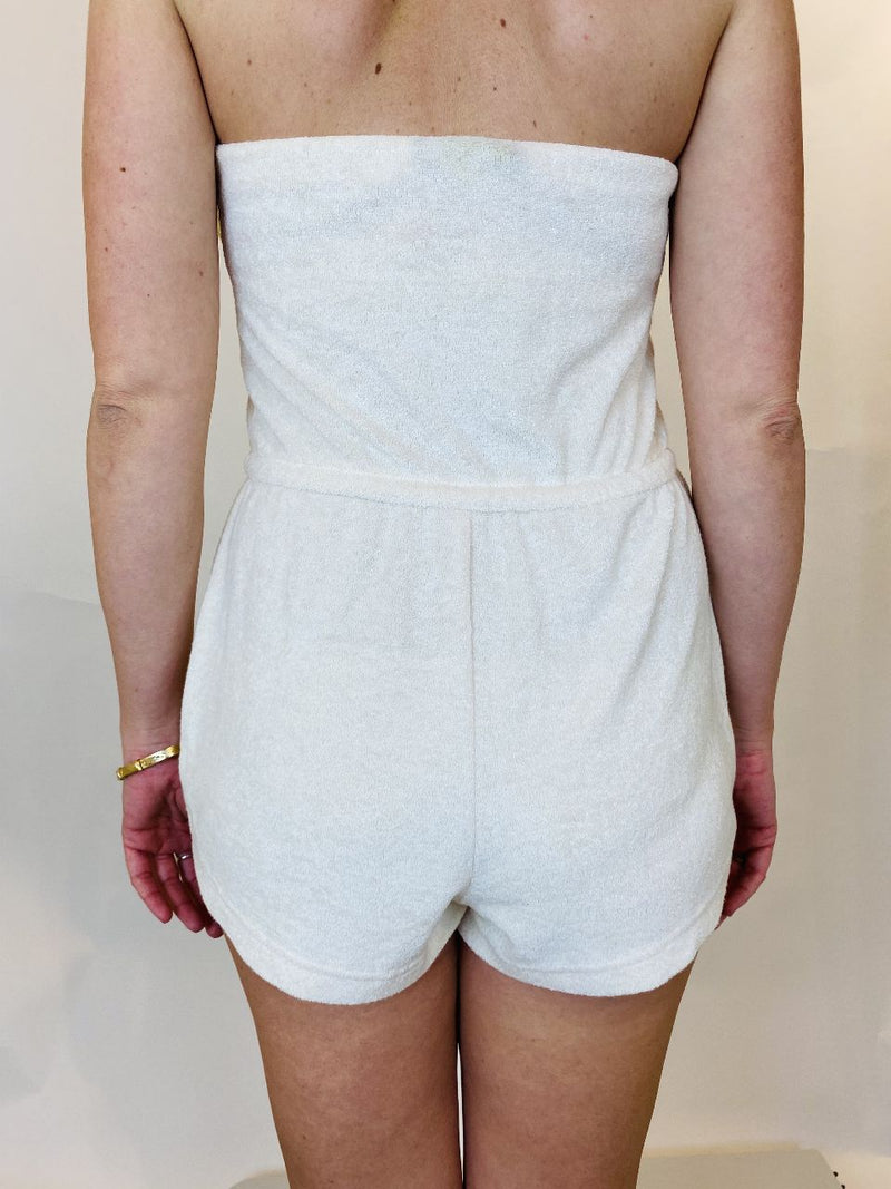 Out from Under by Urban Outfitters Cream Romper (XS)