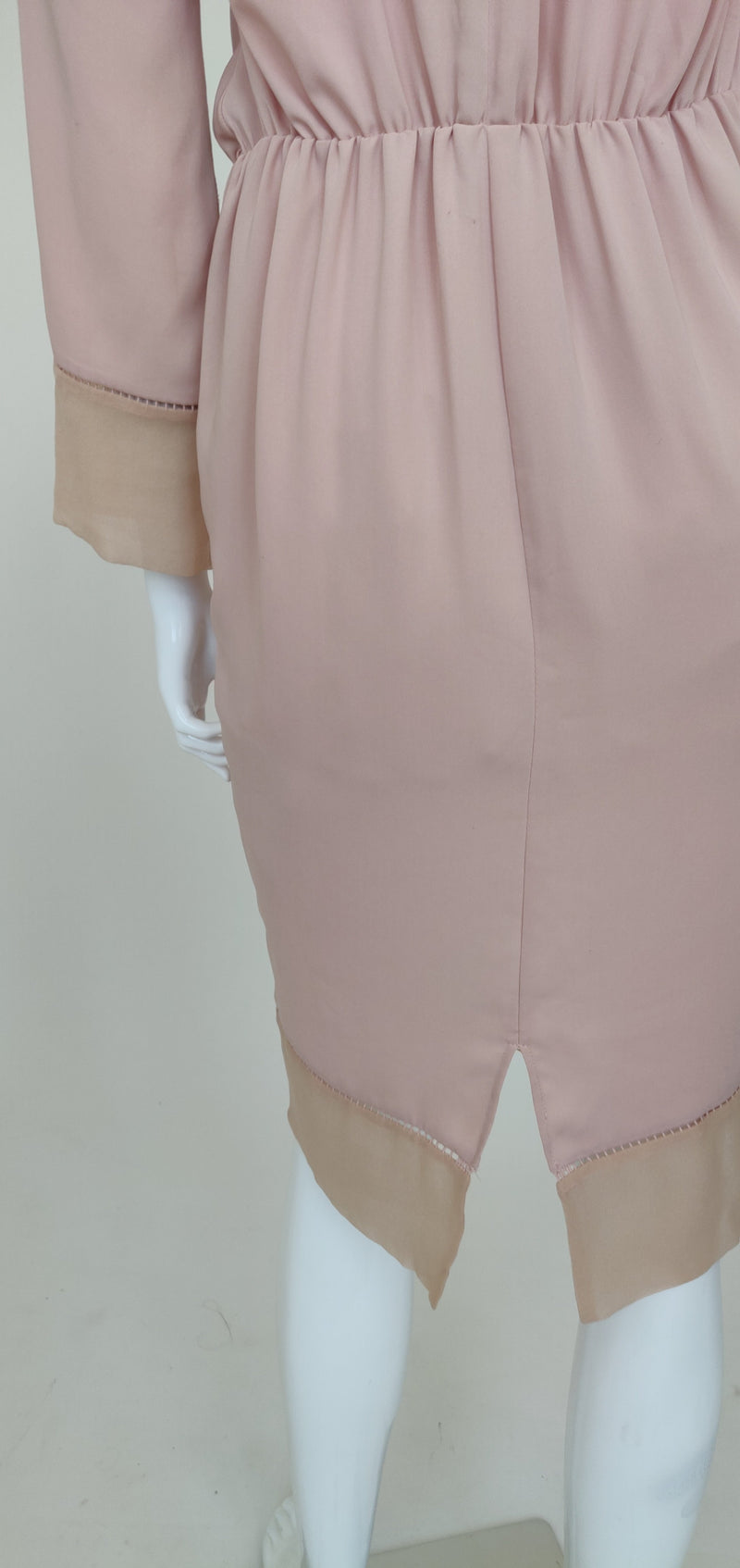 Zimmermann's Pink Midi Dress with Long Sleeves (Medium)
