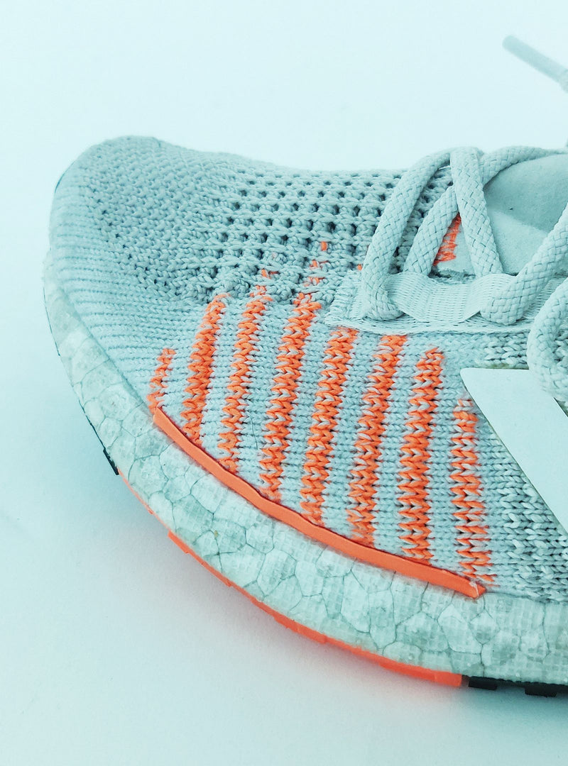 adidas Light Grey Pulseboost HD Shoes with Orange Accents (EU37.5)