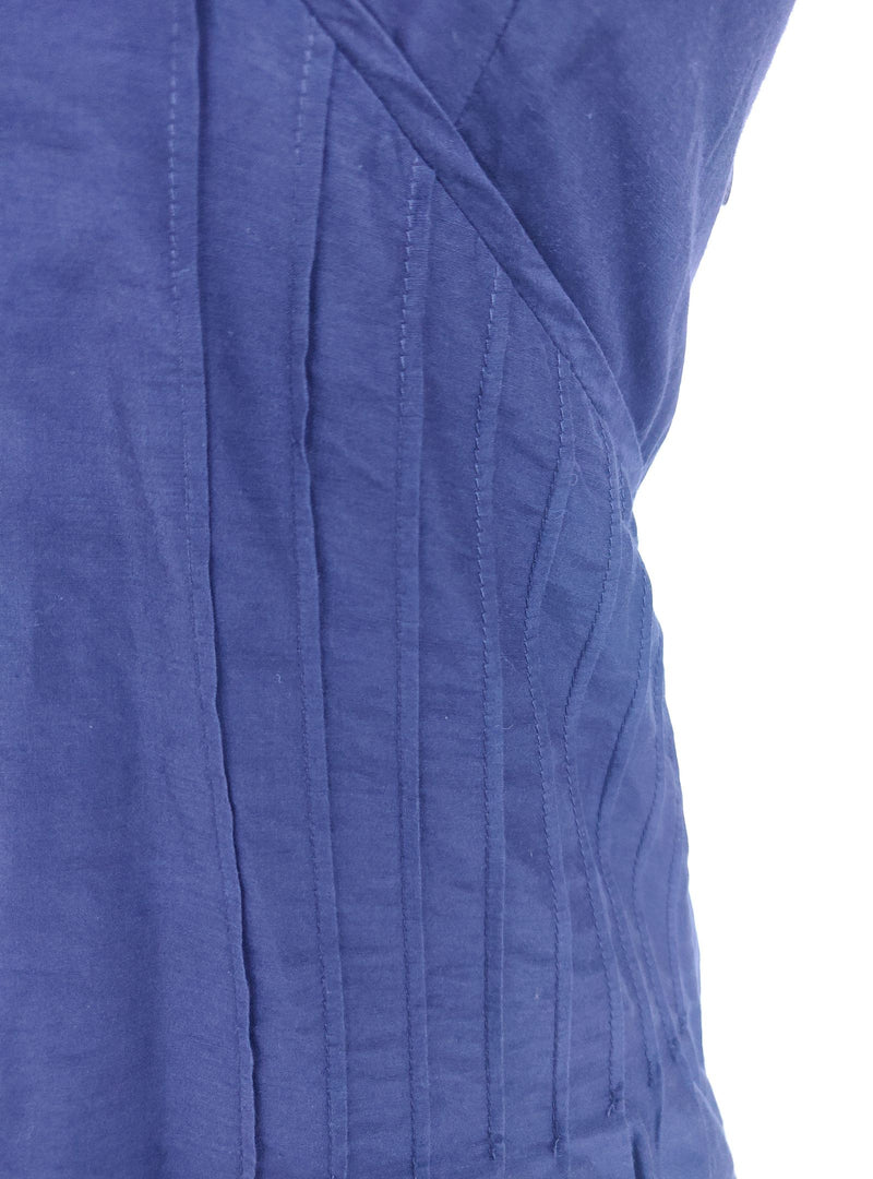 Ted Baker Purple V-Neck Sleeveless Top with Ruffle Details (Small)