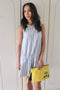 Zara Blue Striped Dress (XS)